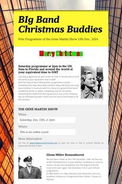 BIg Band Christmas Buddies