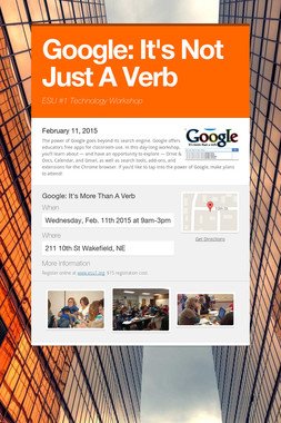 Google:  It's Not Just A Verb