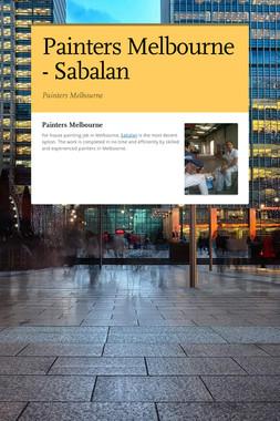 Painters Melbourne - Sabalan