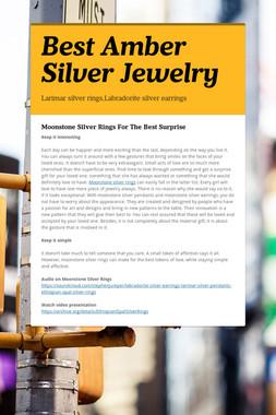 Best Amber Silver Jewelry
