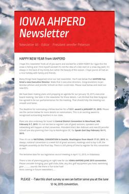 IOWA AHPERD Newsletter