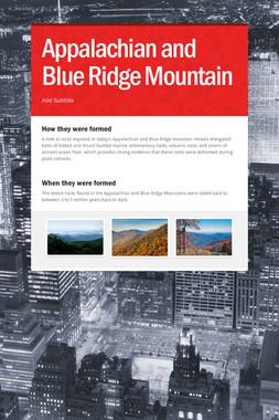 Appalachian and Blue Ridge Mountain