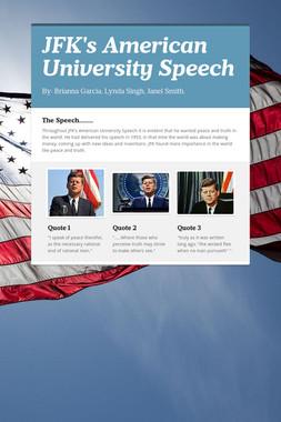 JFK's American University Speech