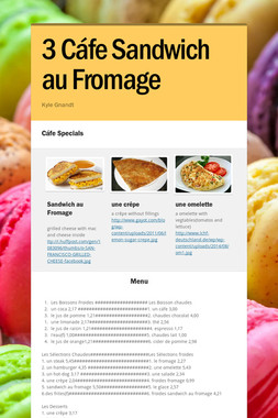 3 Cáfe Sandwich au Fromage