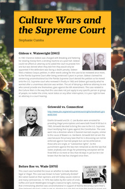 Culture Wars and the Supreme Court