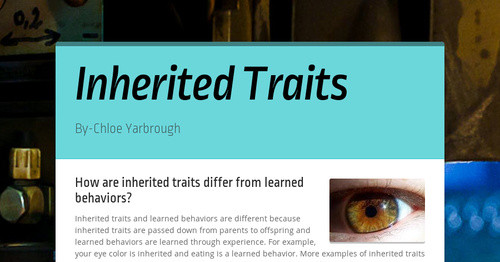 Inherited Traits Smore Newsletters