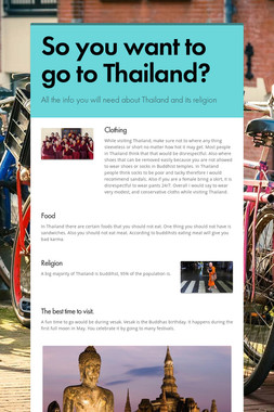 So you want to go to Thailand?