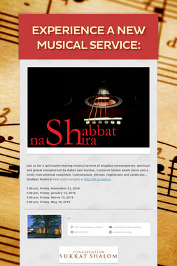 Experience a new musical service: