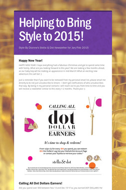Helping to Bring Style to 2015!