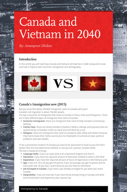 Canada and Vietnam in 2040