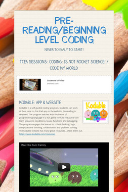 PRE-READING/BEGINNING LEVEL CODING