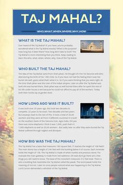 Taj Mahal?