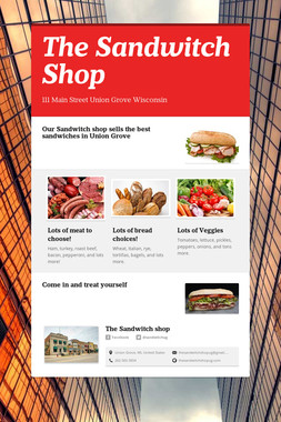 The Sandwitch Shop