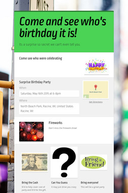 Come and see who's birthday it is!