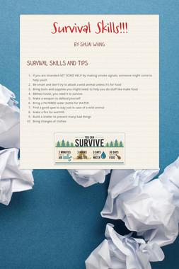 Survival Skills!!!