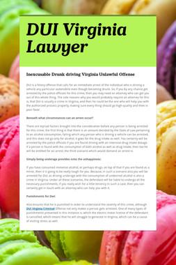 DUI Virginia Lawyer