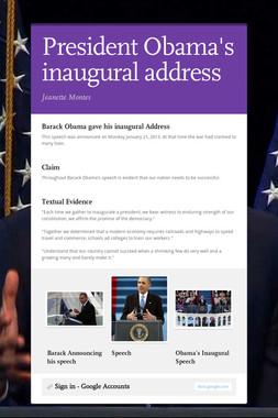 President Obama's inaugural address