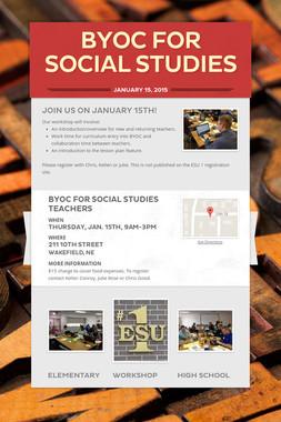 BYOC for Social Studies