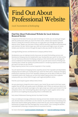 Find Out About Professional Website
