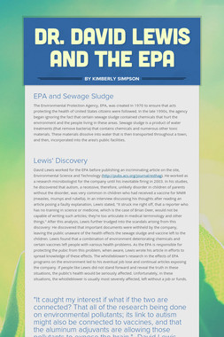 Dr. David Lewis and the EPA