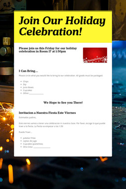 Join Our Holiday Celebration!
