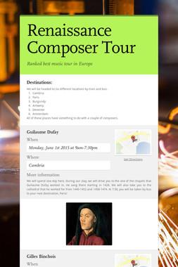 Renaissance Composer Tour