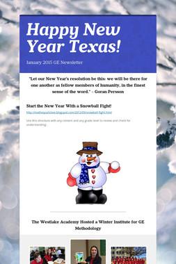 Happy New Year Texas!