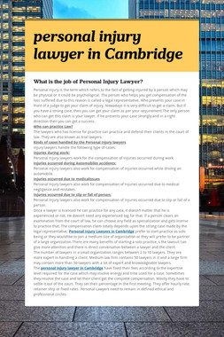 personal injury lawyer in Cambridge