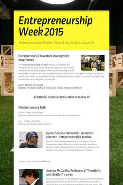 Entrepreneurship Week 2015