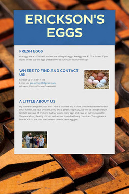 Erickson's Eggs