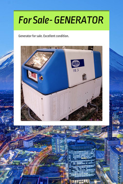 For Sale- GENERATOR