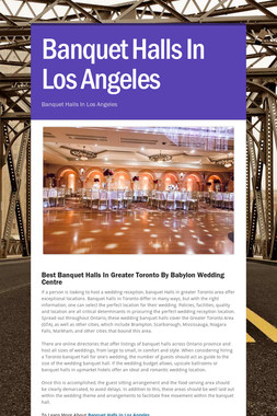 Banquet Halls In Los Angeles