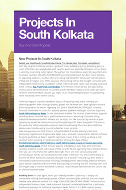 Projects In South Kolkata