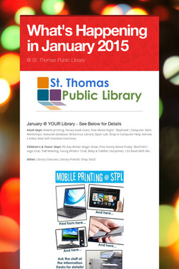 What's Happening in January 2015