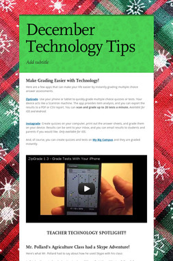 December Technology Tips