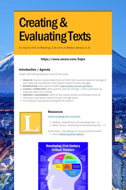 Creating & Evaluating Texts