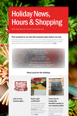 Holiday News, Hours & Shopping