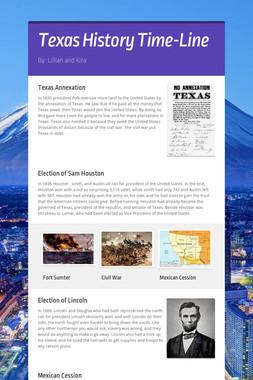 Texas History Time-Line