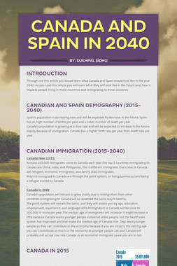 Canada And Spain In 2040