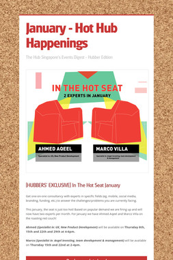 January - Hot Hub Happenings