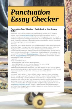 Punctuation Essay Checker