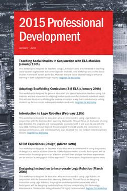 2015 Professional Development