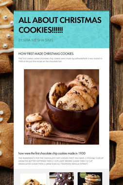 ALL ABOUT CHRISTMAS COOKIES!!!!!!