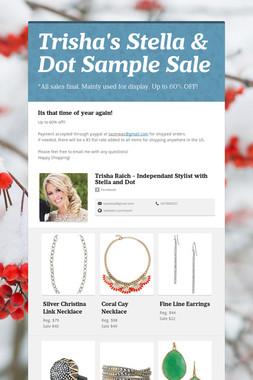 Trisha's Stella & Dot Sample Sale