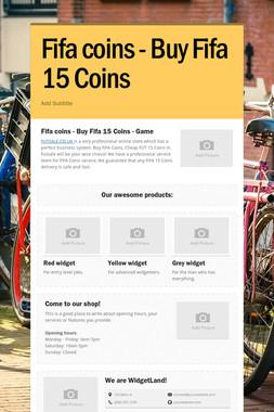 Fifa coins - Buy Fifa 15 Coins