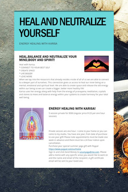 HEAL AND NEUTRALIZE YOURSELF