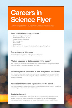 Careers in Science Flyer
