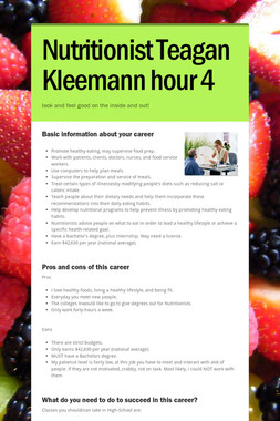 Nutritionist Teagan Kleemann hour 4