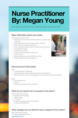 Nurse Practitioner By: Megan Young