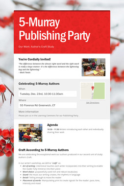 5-Murray Publishing Party